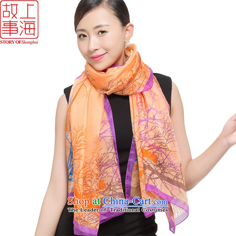 Shanghai Story2015 chiffon sunscreen long towel beach towel leisure shawl dulls scarf silk scarf girls shadedorange 178041 branches to ensure