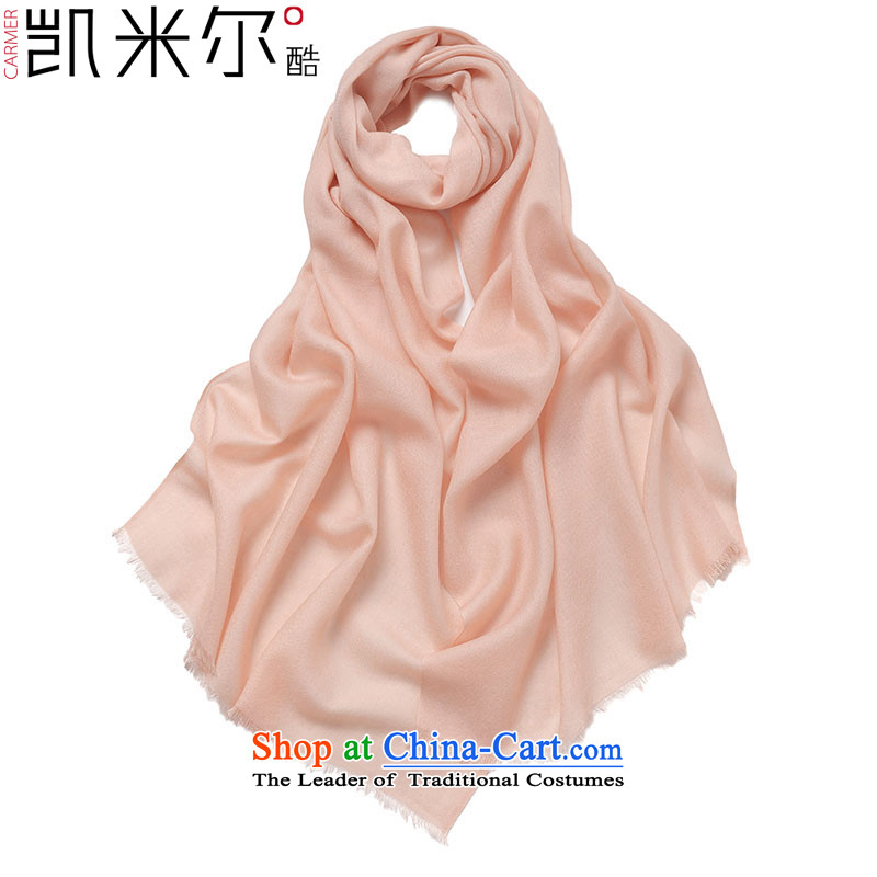 Kemi's core2015 New Pure wool woolen shawl large nude