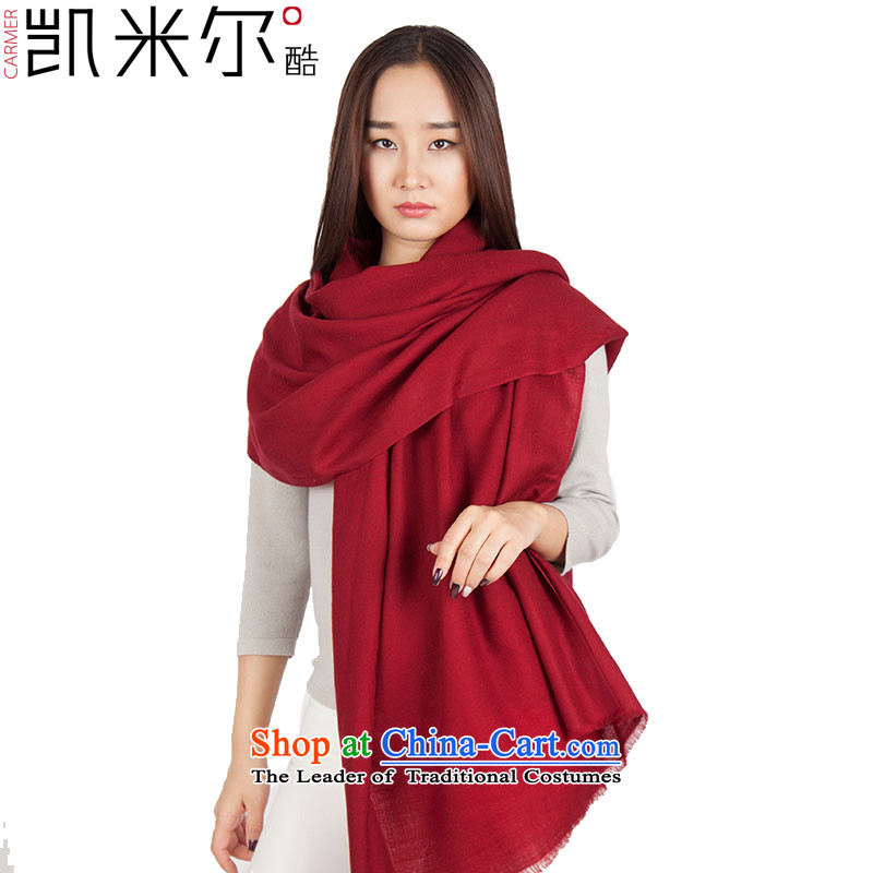 Kemi's core2015 new diamond pattern woolen shawl autumn and winter warm Fancy Scarf air-conditioning with two shawls, wine red