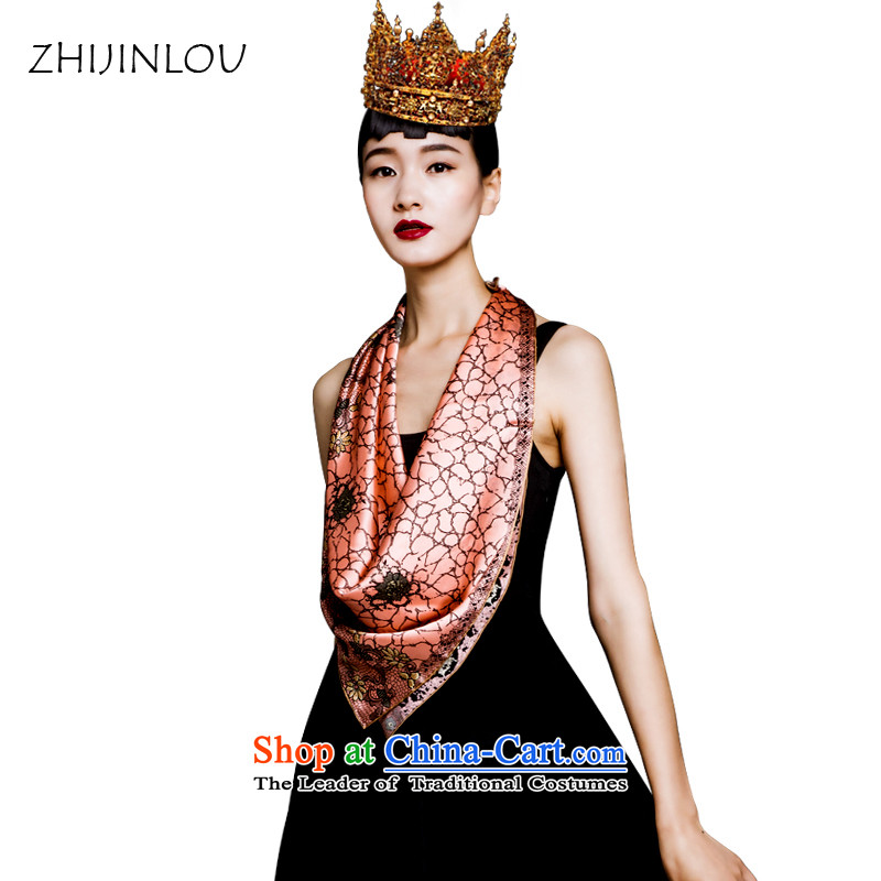 New Spring and Autumn floor polish tapestries herbs extract silk scarves, classy and towel Fancy Scarf ZF3878 Queen Elisabeth