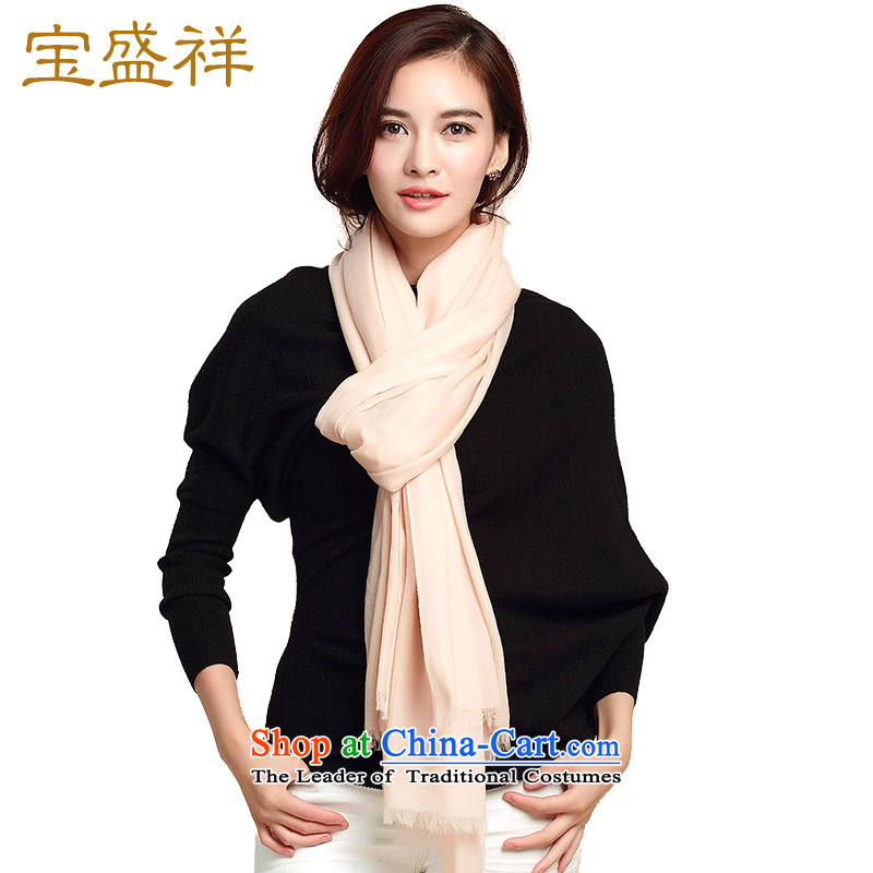 Eric blossom autumn and winter new200 Wool velvet scarf water-soluble wool velvet scarf shawl Ms. rings plain solid a scarf female apricot