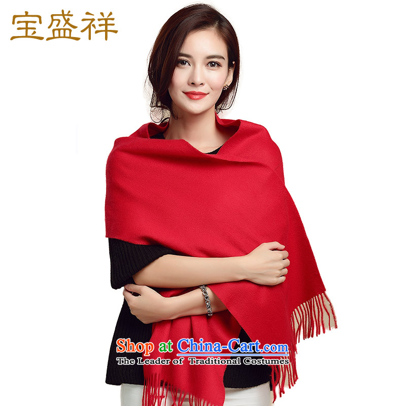 Eric blossom autumn and winter Cashmere wool scarves new classic plain solid, wool and also handkerchief chinese red scarf c8003