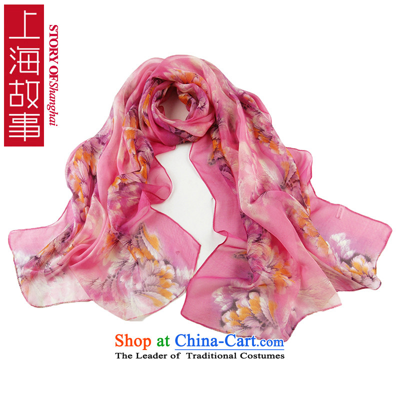 Shanghai Story long silk scarf new digital fabric silk scarf Ms. Santos wild silk shawls 19#