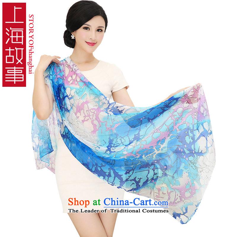 Shanghai Story silk scarves Korean President Dos Santos silk scarf poster chiffon stylish13_ shawl