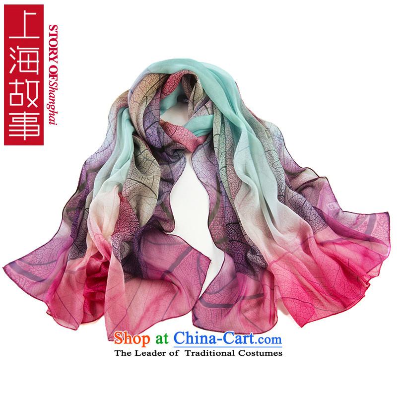 Shanghai Story long silk scarf, new herbs extract silk scarfs shawls extralong digital inkjet Korean masks in14 Gauge