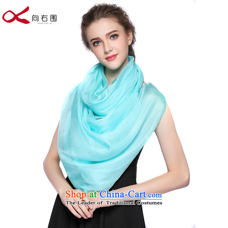 The right of silk scarves female pure colors with Fancy Scarf Buzz Lightyear - Blue