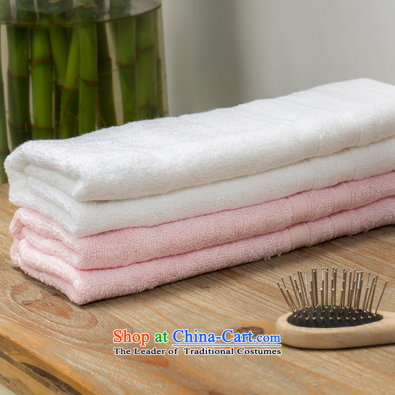 Hua Mei Mei Hong wood fiber face towels face towels towel intensify thick colorfast soft and comfortable wood fiber buy one get one free) Pure White
