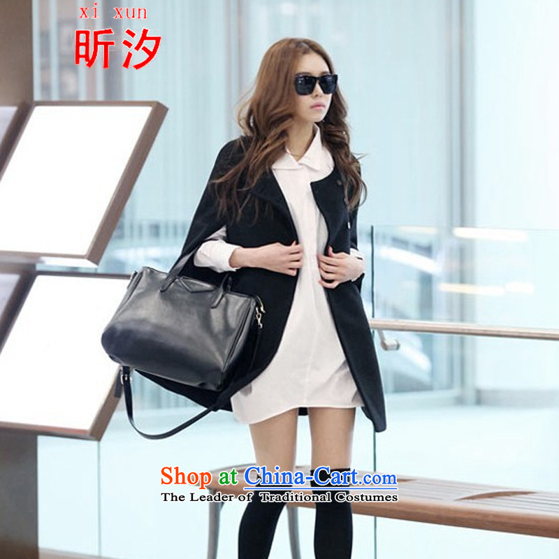 The litany of desingnhotels _2015 autumn and winter load new women's cloak wool a wool coat in long frock coat female _9530 shawl picture colorS