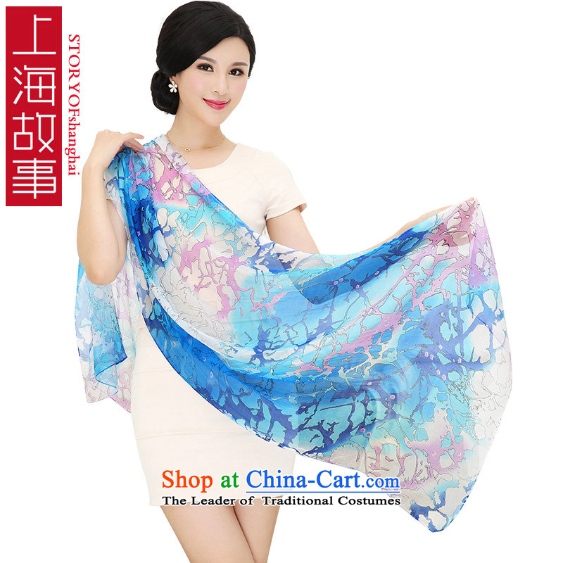 Shanghai Story long silk scarf, Korean fashion wild herbs extract shawl chiffon silk scarfs13#
