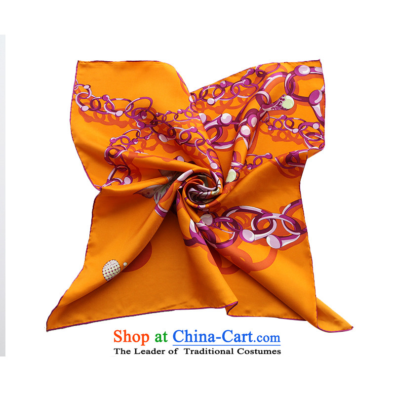 Wensli silk small towel100 herbs extract silk scarfs Chinese towels silk scarf Butterfly Lovers orange63*63cm