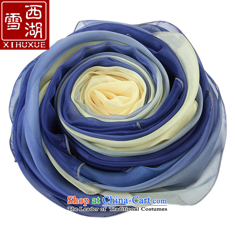 The Hsihu snow silk scarf female autumn and winter long Fancy Scarf masks in glass