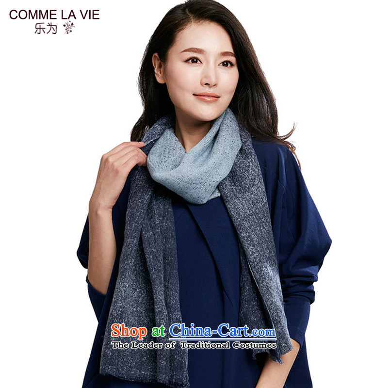 Ms. for autumn and winter scarf woolen shawl use two 15FC158 widen blue