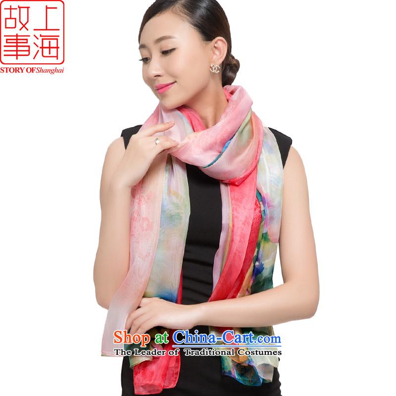 Shanghai Story2015 sunscreen silk scarf shawl dulls beach towel leisure chiffon scarf female seem178044Pink