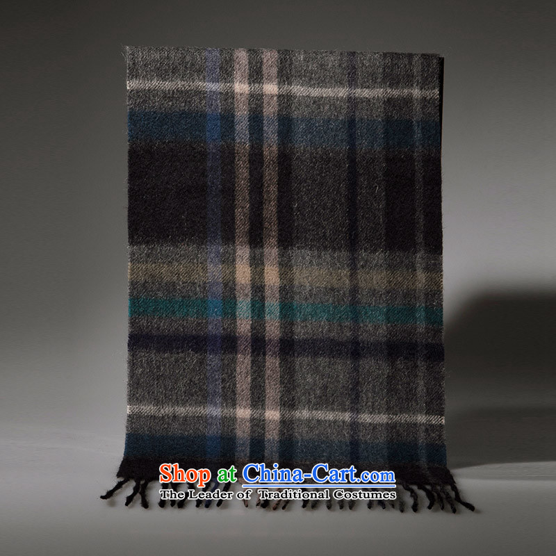 Arctic lint-free Pure Wool tartan scarf girl of autumn and winter warm thick, black gray cells