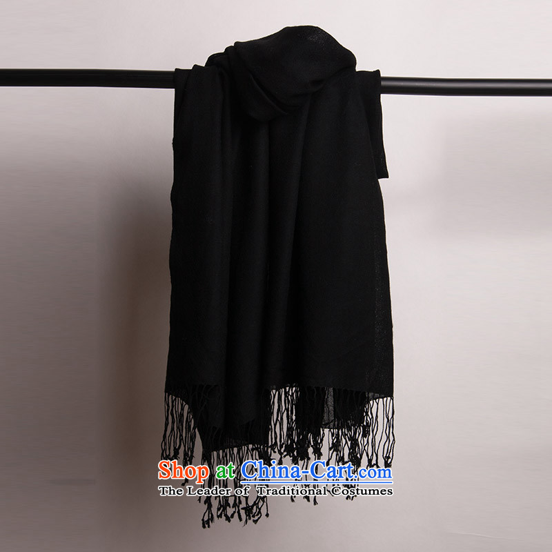 Arctic lint-free satin Fine wool spinning pixel color shawls and strategically placed ventilation female black