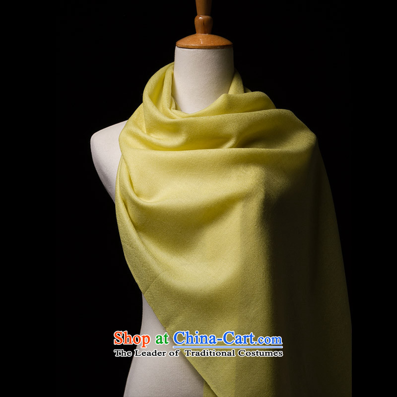 Arctic lint-free spirits filature optical gross shawl, classic Solid Color Yellow