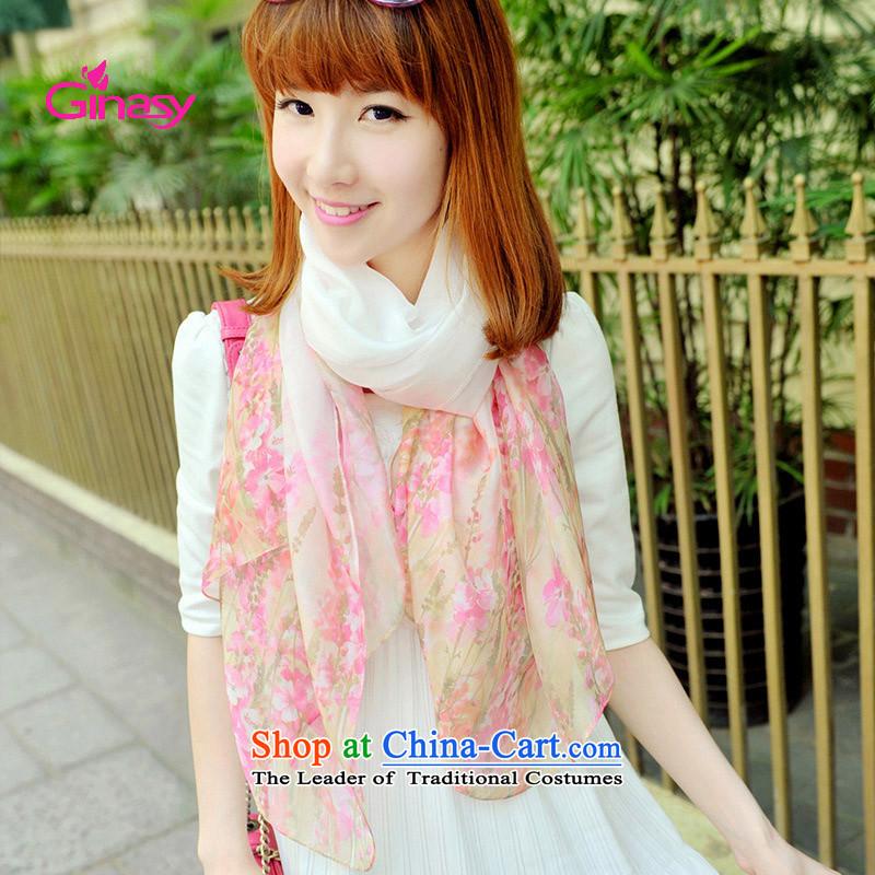 聽The autumn stamp scarves ginasy jewelry Korean idyllic saika snow filature towel聽Pp653al-c shawl
