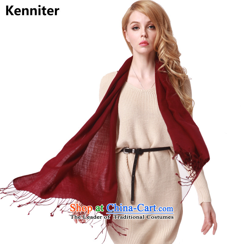 The Annette (kenniter scarves) Ms. wool flow Winter Female Su scarf pure color wild, Indian shawls - warm wy001 vinifying wine red