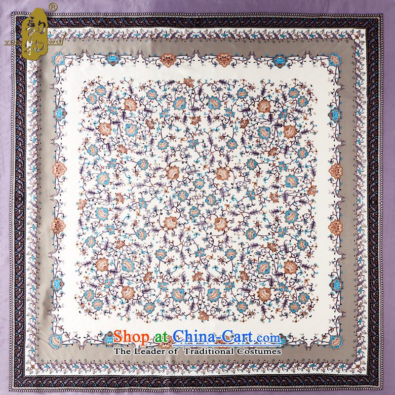 The following properties purple Monogatari series sauna silk scarf shawl, silk shawl silk scarf