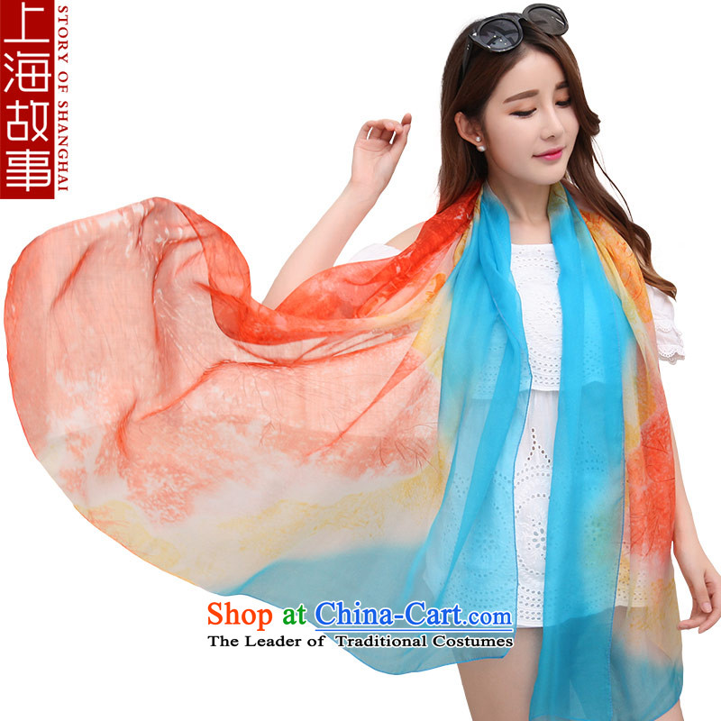 Shanghai Story silk scarves silk scarves Jamsil DOS SANTOS President autumn and winter long warm shawl masks in wild a meticulous red, blue