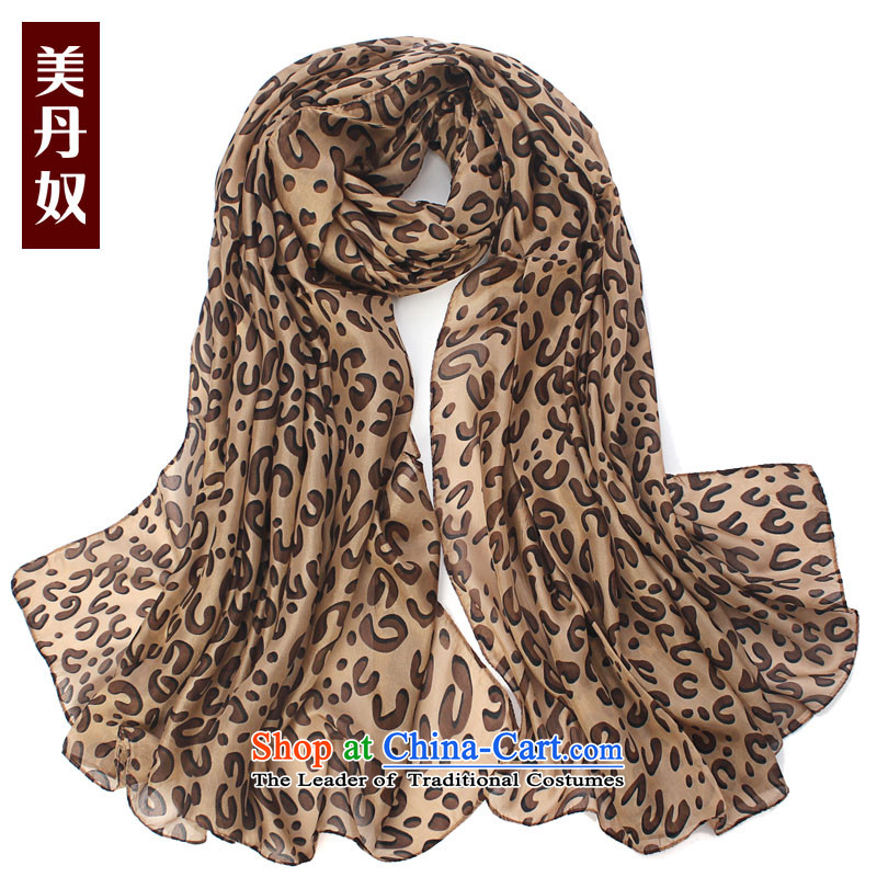 American slaves Dan silk scarves herbs extract stamp scarf oversized Ms. air-conditioned room shawl110*180cmclassic leopard