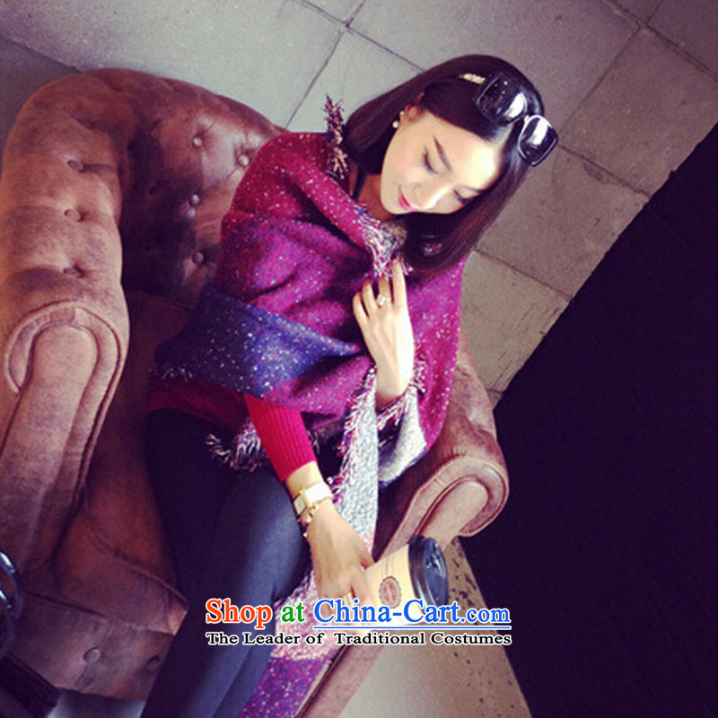 El detailed2015 new Mostar pashmina shawl summer air-conditioning large Korean long stylish flow Ms So wine red scarf.