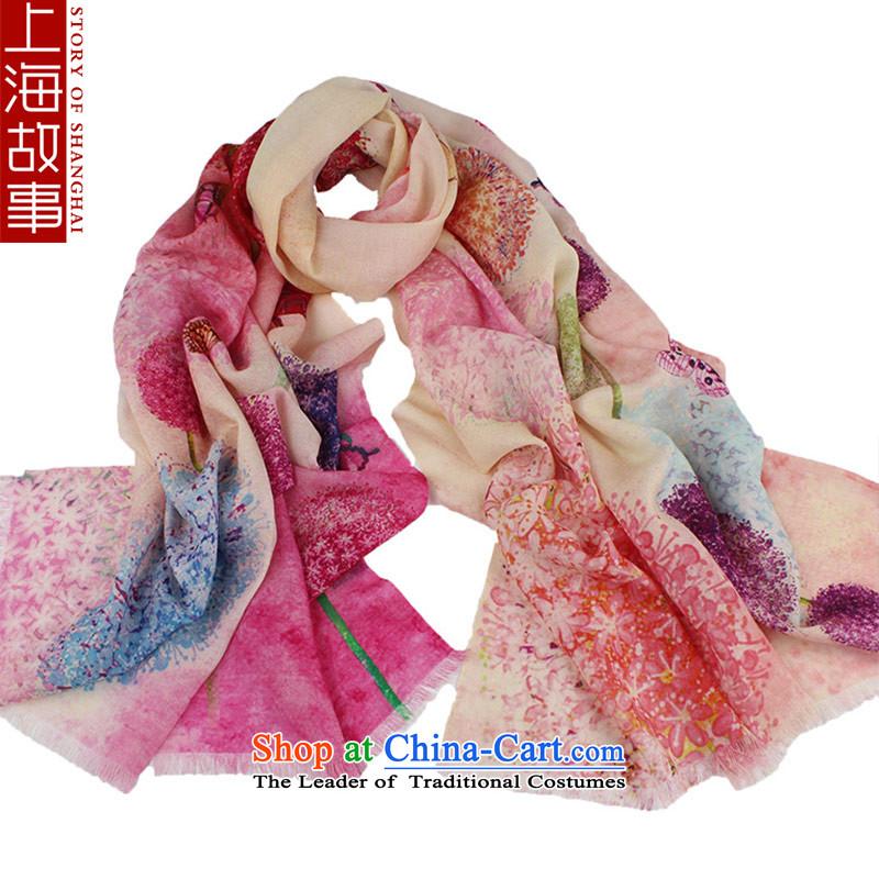 Shanghai Story wooler scarf female autumn and winter warm-ups shawl dandelion beige