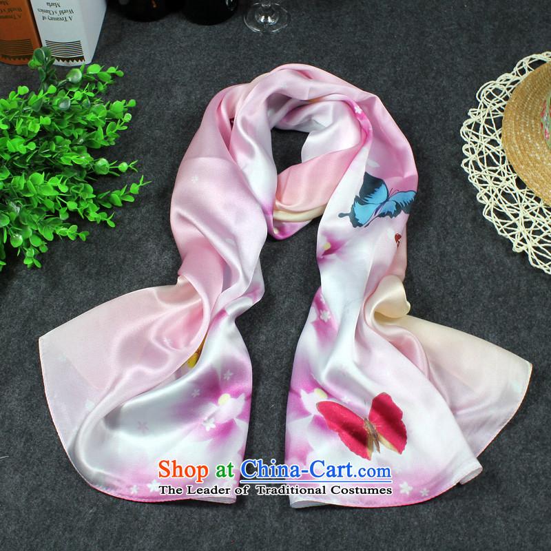 D Li Rui ad silk scarves Fancy Scarf two long, Ms. scarves silk flowers a Butterfly Dance