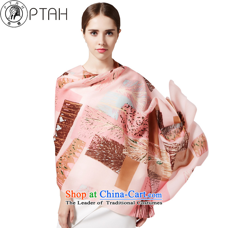 Buta counters, scarf stamp wool handkerchief also female autumn and winter warm longer shawl聽4PT3744313Pink