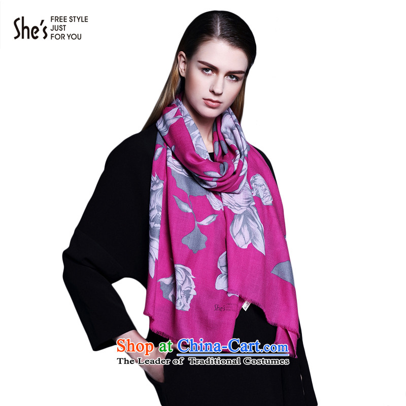 The end of the scarf ELEGANT ACCESSORIES she's stamp wool warm winter scarf SSP96190930