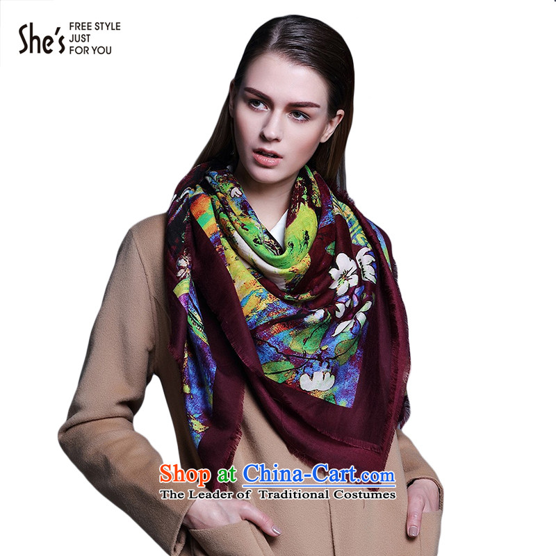 She's scarf accessories rich oil paintings stamp shawl Fancy Scarf femaleSSS9519318 E0