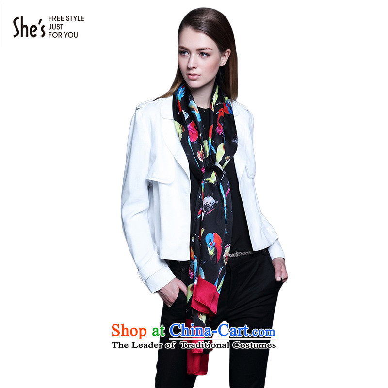 Mrs Ure child accessories she's stylish birdie sauna silk scarves long silk scarfs shawl female SSP9619412 G0