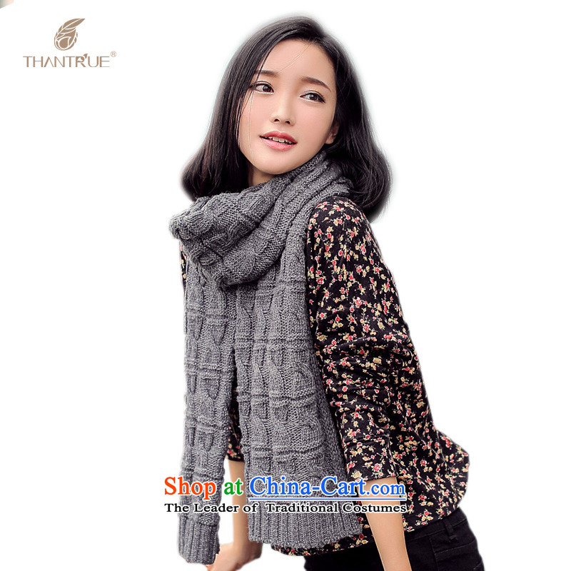 Really sweet style thantrue Knitting scarves women autumn and winter warm knitting a W050 Carbon