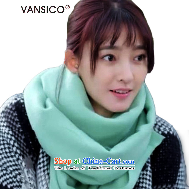 2015 WINTER HIGH QUALITY VANSICO two of the Flower King, Likun Yang Ying stars with women's solid color quality pashmina shawl8041light green (MINT)