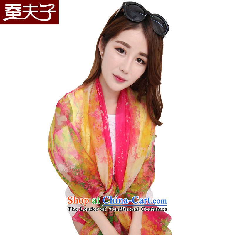 Also, teacher of silk scarves, autumn and winter herbs extract Fancy Scarf two print a Korean version of placing a minimalist wild relaxing in red