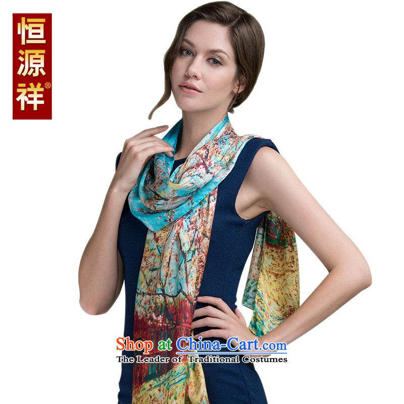 Hengyuan Cheung of autumn and winter long silk scarves China wind herbs extract scarf snow spinning towel summer large shawl521# 170*50 cm