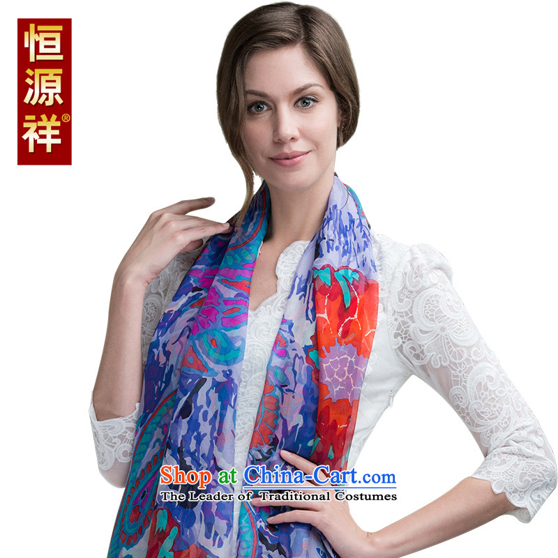 Hengyuan Cheung Korean long silk scarves autumn and winter wild herbs extract scarf Summer Snow spinning towel large shawl聽D1404-1_ 180_110cm