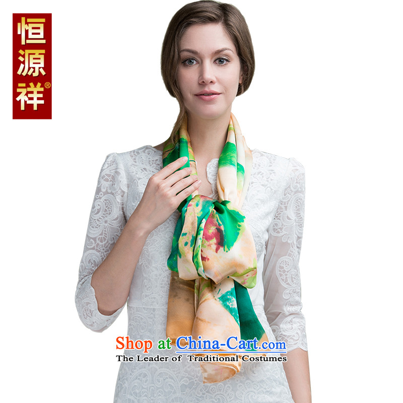 Hengyuan Cheung chiffon silk scarves western herbs extract Color Plane Collision scarf of autumn and winter long masks in large shawl 479-3# 180*110cm