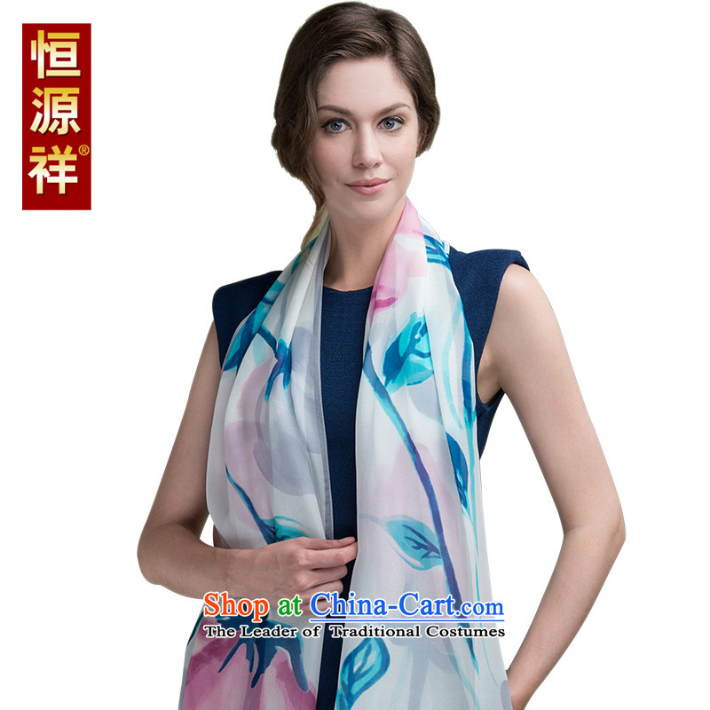 Hengyuan Cheung of autumn and winter long chiffon silk scarfs Korean thin, herbs extract silk scarf summer masks in large shawl83#-01 180*70 cm