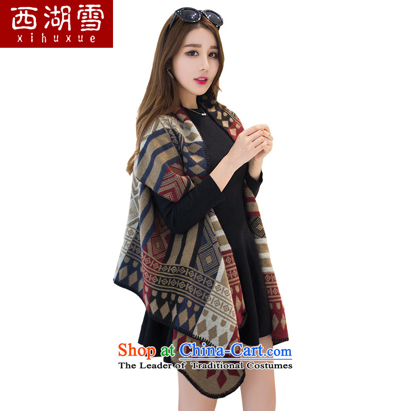 The Hsihu snow scarf female Korean version of the new, winter a thick warm shawl scarves with diamond card its