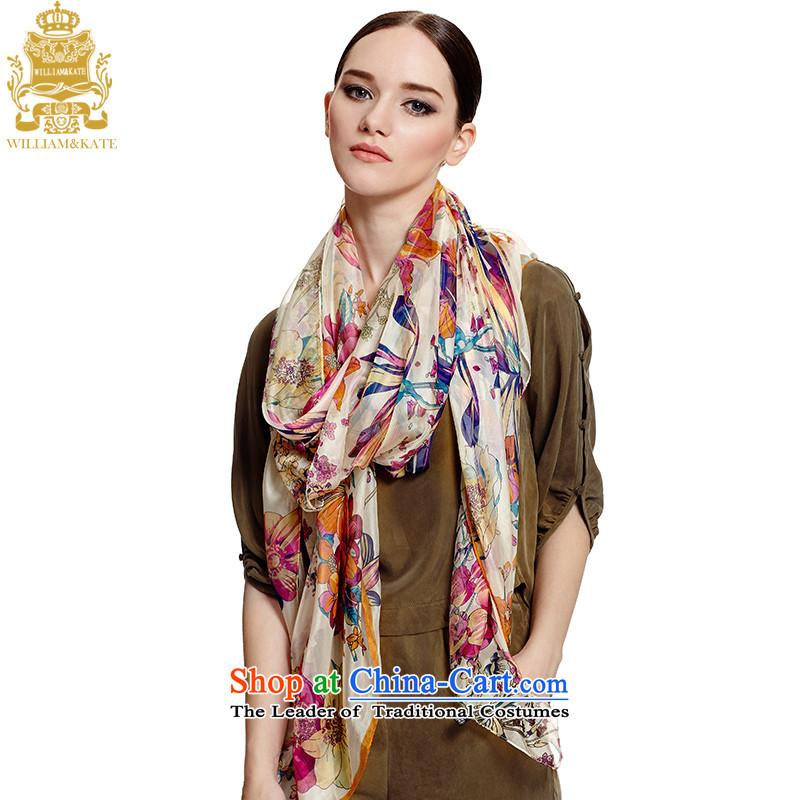 Williams _ Ms. Kate WILLIAM_KATE silk scarf big wild little long silk scarf WJ35395 beige