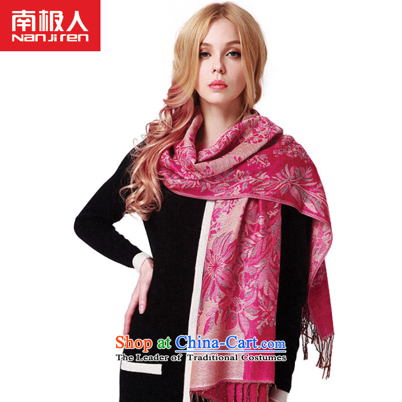 2015 Autumn and winter Antarctic were the new president of the scarf national elegant jacquard stream su specifications with two shawlsNWJ-02- jacquard in red are code
