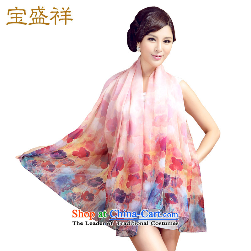 Blossom Cheung2015 silk scarves scarf Ms. stamp silk embroidery long towel sunscreen silk scarf flaring s9116 Flowers