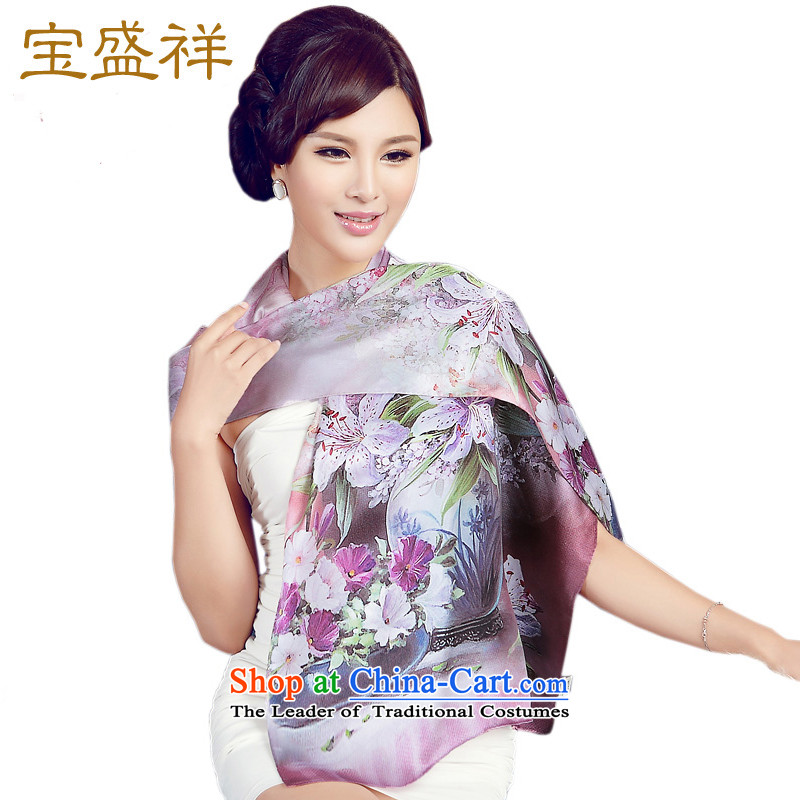 Eric blossom scarf herbs extract satin digital printing temperament elegant long Ms. Fancy Scarf elegant peony s9510