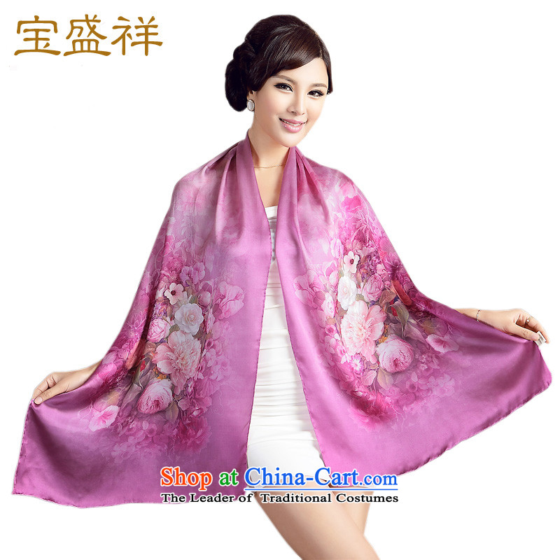 Eric blossom scarf herbs extract satin digital printing temperament elegant long Ms. Fancy Scarf s9505 euroblech