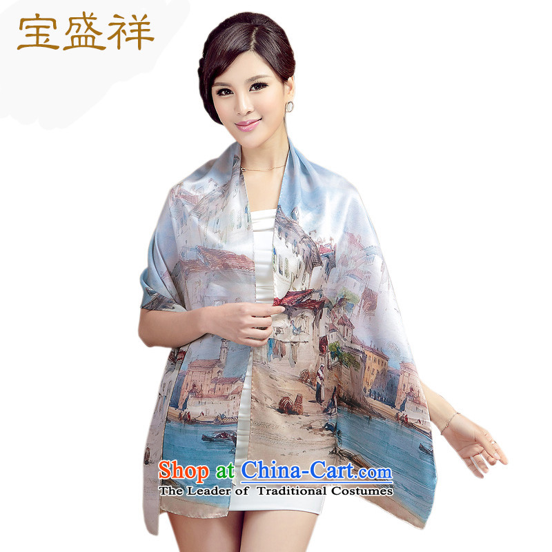 Eric blossom silk scarf herbs extract silk satin digital printing Ms. Long Fancy Scarf silk sunscreen silk scarf long towel classical s9502 Town