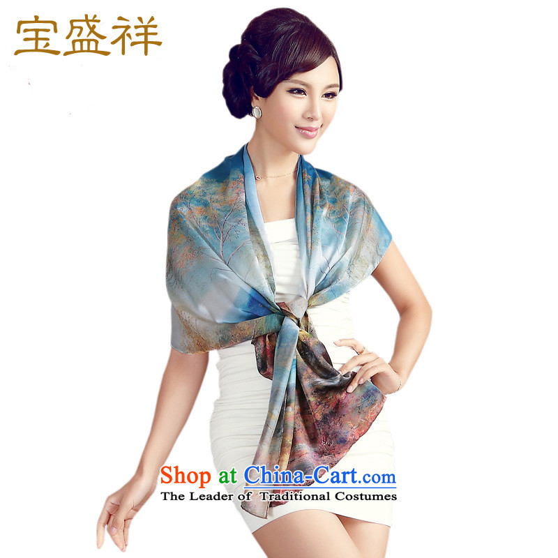 Eric blossom scarf herbs extract satin digital printing Ms. Long Fancy Scarf of autumn pleasant autumn pleasant s9508