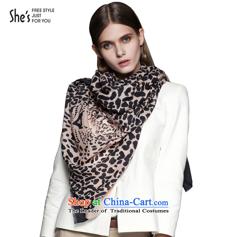 She's scarf accessories Leopard Stamp pro-skin care wooler scarf edging shawl SSP9619234 female F0