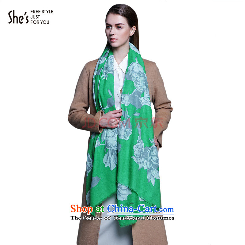 The end of the scarf ELEGANT ACCESSORIES she's largest printed wooler scarf SSP9619093 D0