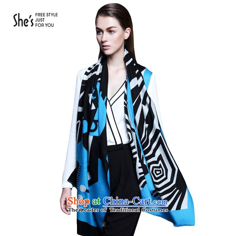Wooler scarf scarves she's long warm shawlSSP9519206 female C0